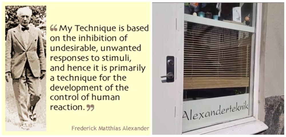Alexanderteknik praktisk ergonomi rörelse